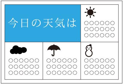 今日の天気はデザイン3