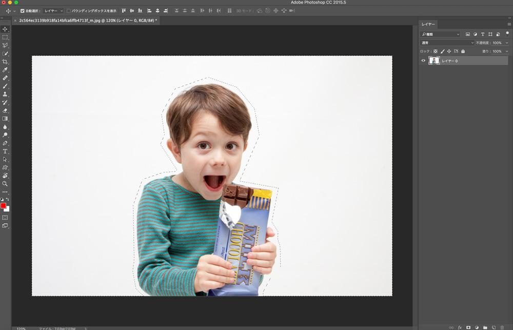 Photoshopカラーハーフトーンを使ってコミック調の効果を加える