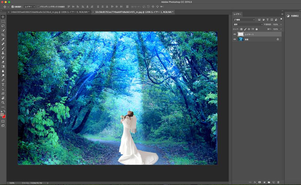 Photoshopで2つの画像を合成する手順