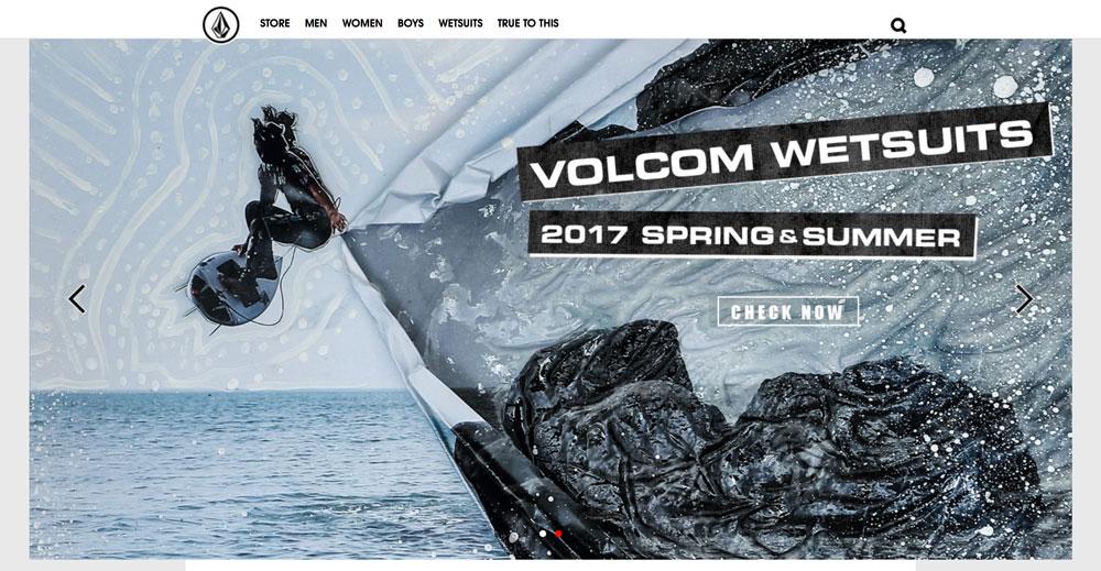 Volcom公式サイト