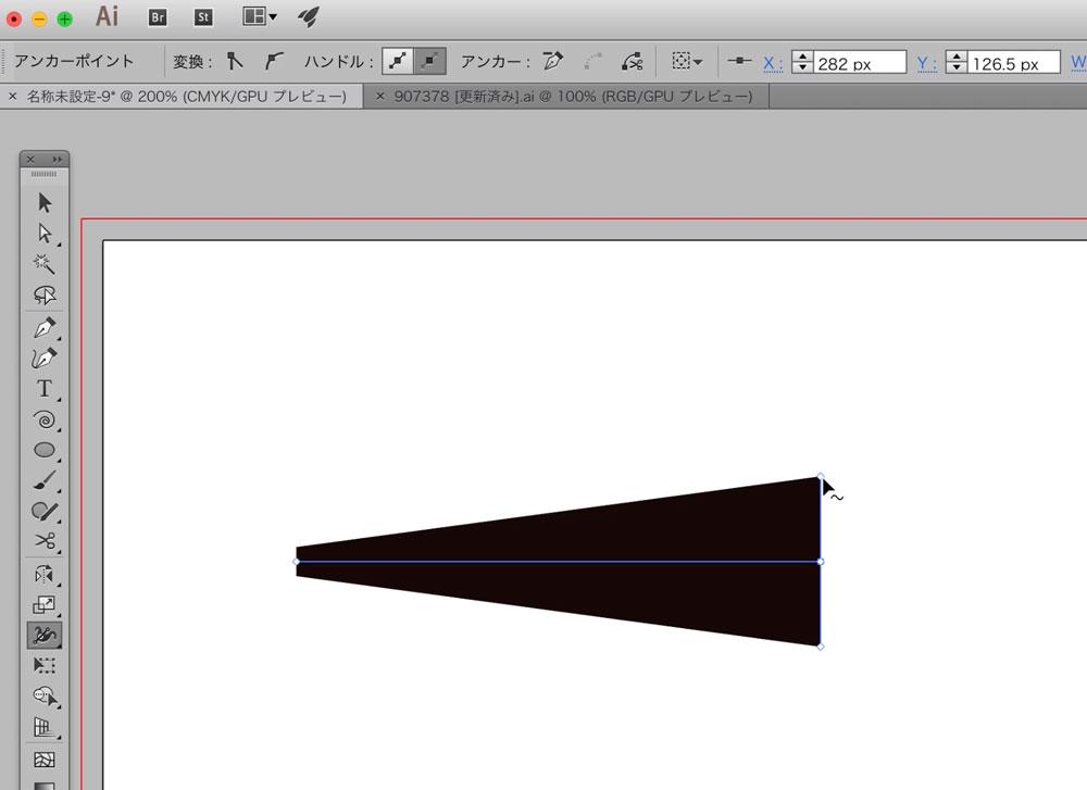 Illustratorの線幅を簡単に調整する方法